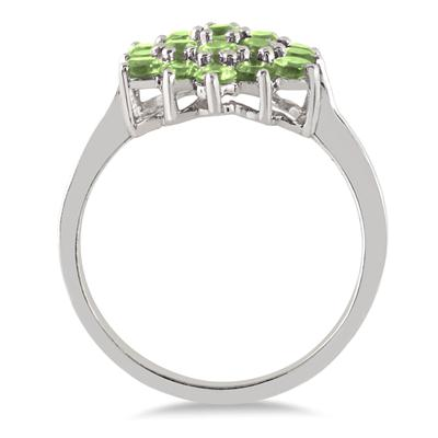 Gorgeous Dazzling Peridot Ring .925 Silver Holiday Sparkle!