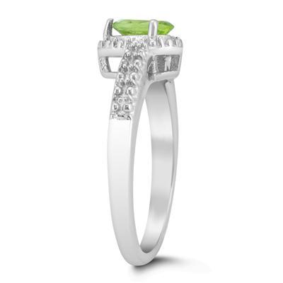 6x4mm Pear Shape Peridot Ring in .925 Sterling Silver