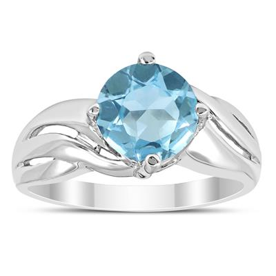 Blue Topaz Savanna Ring in .925 Sterling Silver