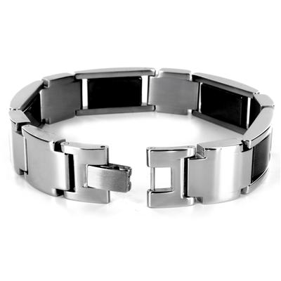 Stainless Steel Two-Tone Polished Link Bracelet - 8.75 Inches