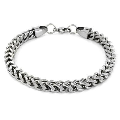 Stainless Steel Mens Franco Box Chain Bracelet