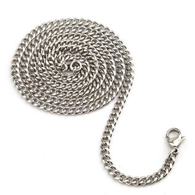 24 Inch 3.75mm Wide Stainless Steel Curb Chain with Lobster Clasp