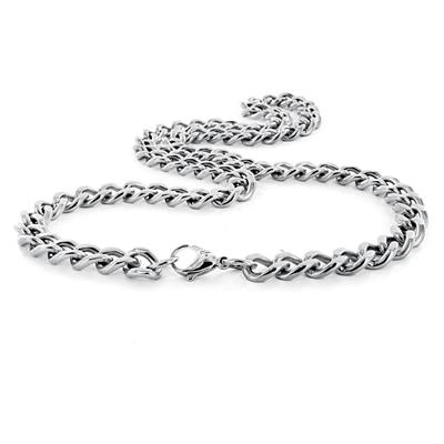 "24"" Stainless Steel Heavy Curb Link Chain Necklace"