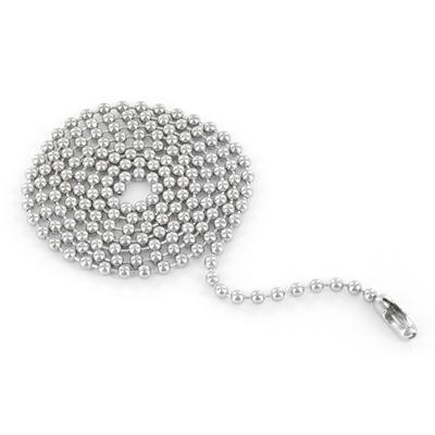 Stainless Steel Black plated Cylinder on a 24 Inch Ball Chain