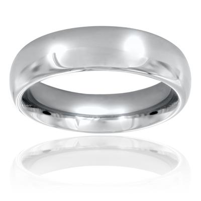 Domed Polished Titanium Band (6mm)