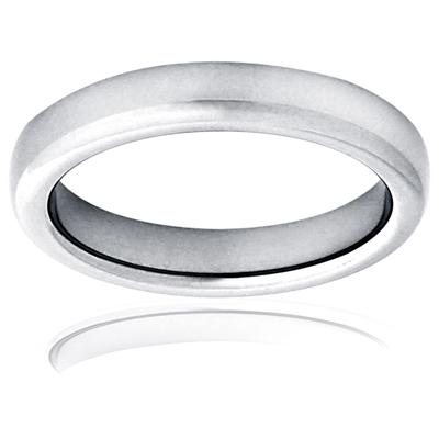 Domed High Polished Titanium Ring (4mm)