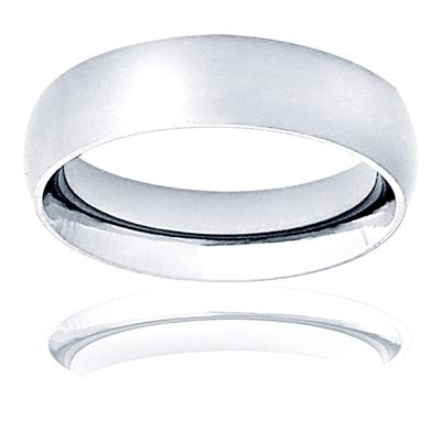 Domed Brushed Titanium Band (6mm)
