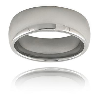 Domed High-polished Tungsten Carbide Band (8mm)