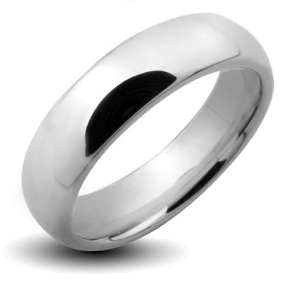 Tungsten Carbide Shiny Finish Traditional Wedding Band