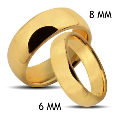 Tungsten Carbide Gold IP Classic Band Ring