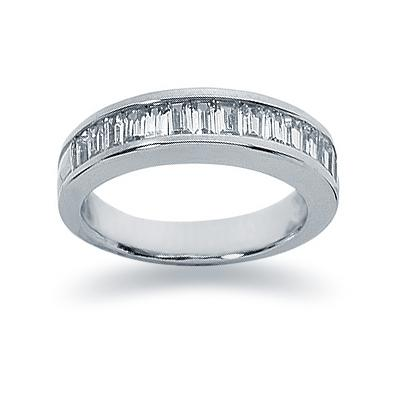 1.05 Baguette Diamond Wedding Band in Palladium