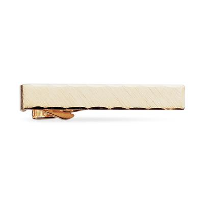 23kt. Gold Plated Etched Tie Clip