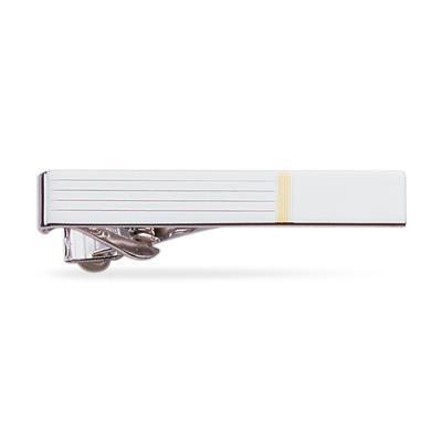 23k Rhodium Electroplated Tie Clip