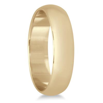 4mm Domed Comfort Fit Wedding Band in 10K Yellow Gold