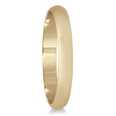 2mm Domed Wedding Band in 10K Yellow Gold