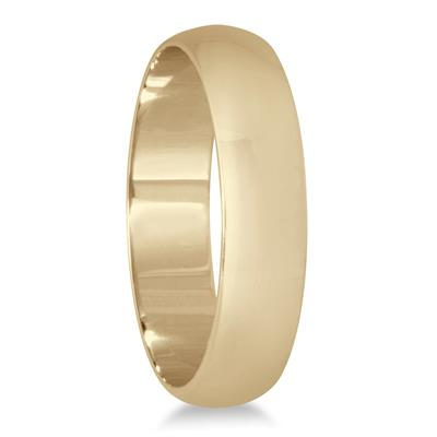 4mm Domed Wedding Band in 10K Yellow Gold