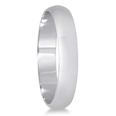3mm Domed Wedding Band in 14K White Gold