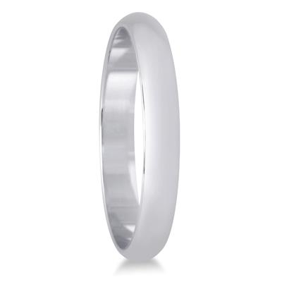 2mm Domed Comfort Fit Wedding Band in 14K White Gold