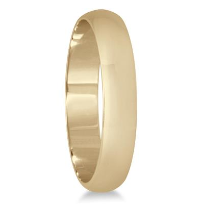 3mm Domed Wedding Band in 14K Yellow Gold