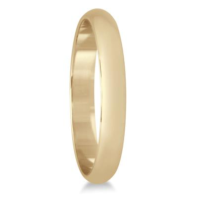 2mm Domed Comfort Fit Wedding Band in 14K Yellow Gold