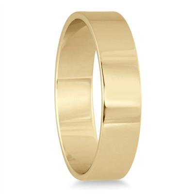 4mm Flat Comfort Fit Wedding Band in 10k Yellow Gold
