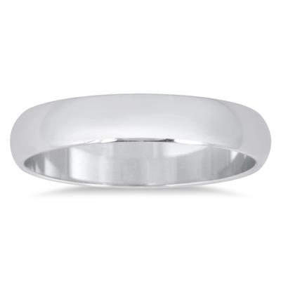 3mm Domed Comfort Fit Wedding Band in 10K White Gold