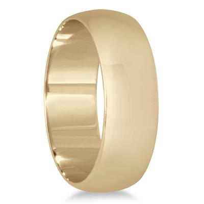 6mm Domed Wedding Band in 10K Yellow Gold
