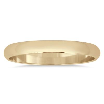 2mm Domed Comfort Fit Wedding Band in 10K Yellow Gold