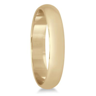 3mm Domed Comfort Fit Wedding Band in 10K Yellow Gold