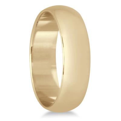 5mm Domed Comfort Fit Wedding Band in 10K Yellow Gold