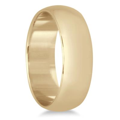 6mm Domed Comfort Fit Wedding Band in 10K Yellow Gold