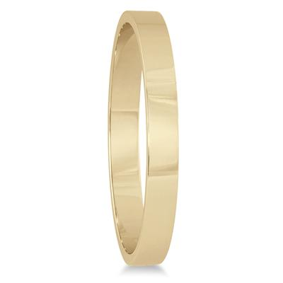 2mm Flat Wedding Band in 14K Yellow Gold