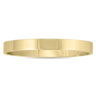 2mm Flat Comfort Fit Wedding Band in 14K Yellow Gold