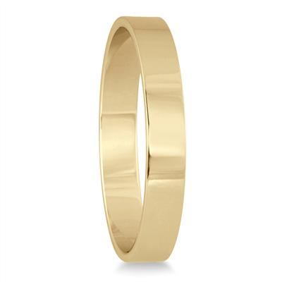 3mm Flat Comfort Fit Wedding Band in 14K Yellow Gold