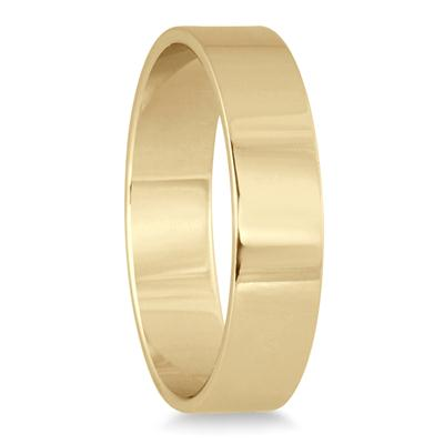 4mm Flat Comfort Fit Wedding Band in 14K Yellow Gold