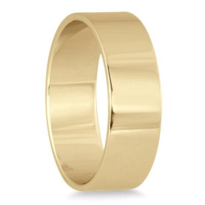 6mm Flat Comfort Fit Wedding Band in 14K Yellow Gold