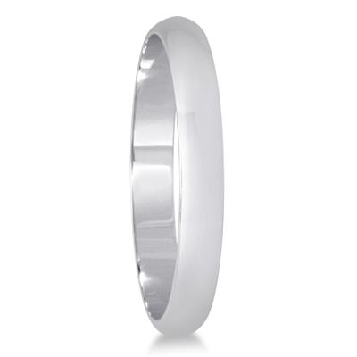 2mm Domed Wedding Band in 10K White Gold