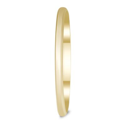 870bb7765d942f Skinny Thin Domed Stackable 14K Yellow Gold Band (1mm) - WBU58153