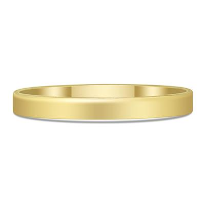 2.25mm Flat Plain 14K Yellow Gold Fill Band