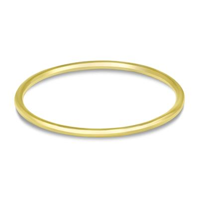 14K Gold Filled 1mm Classic Plain Domed Band