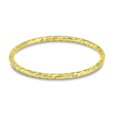 14k Gold Filled 1mm Hammered Sparkle Band