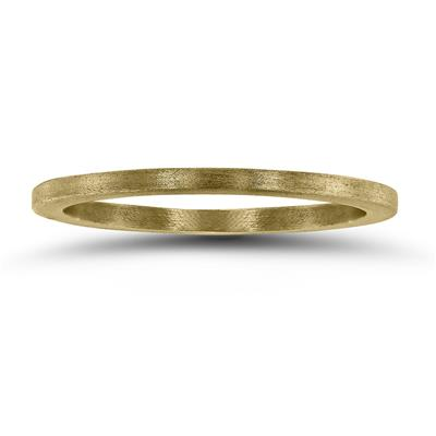 1MM Thin Matte Finish Wedding Band in 14K Yellow Gold