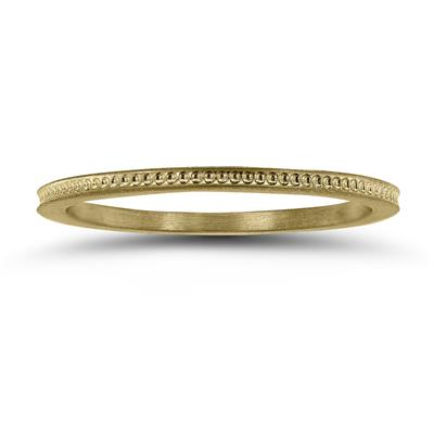 Thin 1MM Wedding Band in 14K Yellow Gold