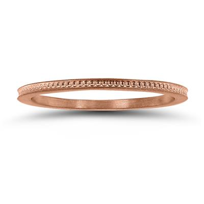 Thin 1MM Wedding Band in 14K Rose Gold