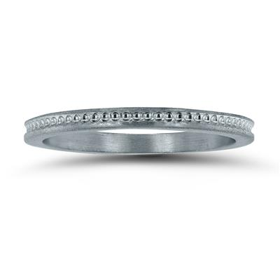 Thin 1.5MM Wedding Band in 14K White Gold