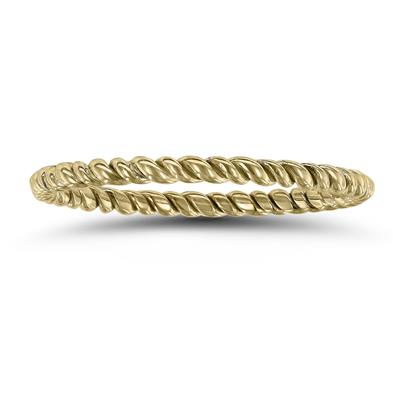 1.5MM Rope Twist Wedding Band in 14K Yellow Gold