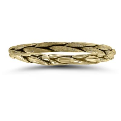 1.7MM Braided Wedding Band in 14K Yellow Gold
