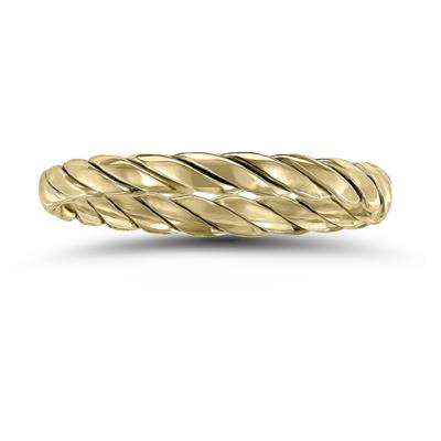 1.7MM Braided Rope Twist Wedding Band in 14K Yellow Gold