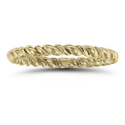 1.7MM Rope Twist Wedding Band in 14K Yellow Gold