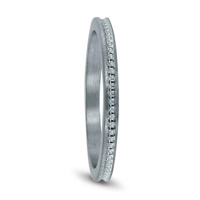 Thin 1MM Wedding Band in 14K White Gold